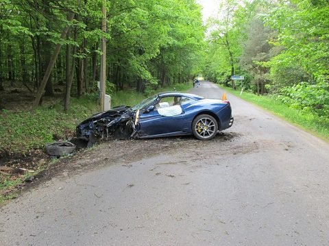 Voracek Walks Away, Ferrari Totaled